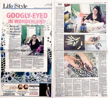 Googly-Eyed in Wonderland   Feature Story in Charleston Gazette-Mail