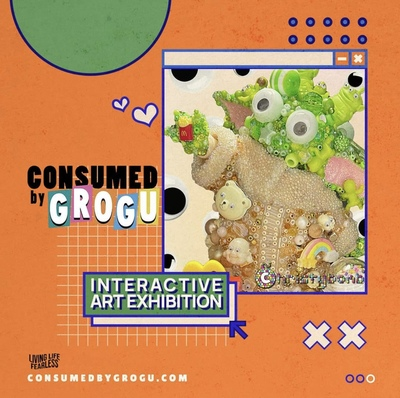 Consumed by Grogu! Christybomb's Solo Interactive Art Exhibition