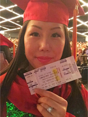Christybomb Receives Her MFA degree @ Madison Square Garden in New York City
