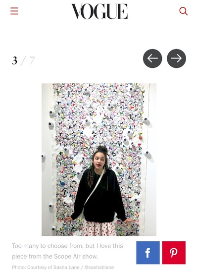 "Sasha Lane Poses in Front of Christybomb's ""Unicorn Candy"" as Seen in Vogue.com"